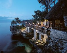 Restaurant, Rockhouse hotel,  Jamaica... I have been here ! So fun