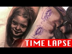 Daughter's portrait - Tattoo time lapse - YouTube Shading Faces, Tattoo Time Lapse, Tattoo Shading, Time Tattoos, Daughter, Ink, Portrait, Youtube, Headshot Photography