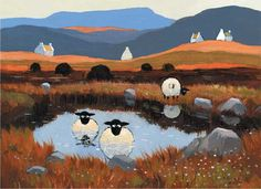 Ewe-topia. You see this artwork all over the local shops here in Dumfries and Galloway...the bad puns are always cringe-worthy.