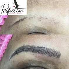 This beautiful lady did eyebrows, eyelash liner, and full lips coloring. She basically does not have that much hair left, so after she did lots of research, she made her appointment one month ago. She is so happy with the results. For make your about please call 443-935-8030. We only have the last three openings in June, hurry up! #makeupfree