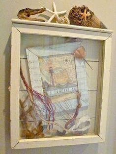 Memory box and shell craft tutorial and ideas for decorating with shells