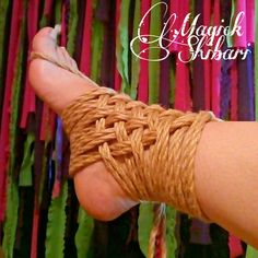 Foot self-bondage Rope Tying, Rope Art, Ties That Bind, All Tied Up, Daddys Girl, Bare Foot Sandals, Erotic Art, Diy Art, Arm Warmers
