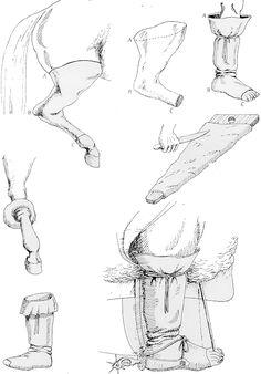 Confección de botas de potro