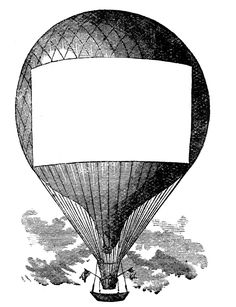 Welcome to _________ 's class! ---Advertising Clip Art - Hot Air Balloon - Steampunk