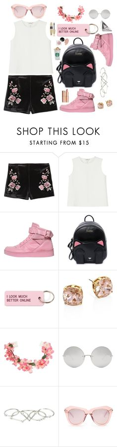 """Spring in Pink"" by piedraandjesus ❤ liked on Polyvore featuring Monki, Moschino, Various Projects, Tory Burch, Miss Selfridge, Linda Farrow, Zimmermann, Karen Walker and Victoria's Secret"