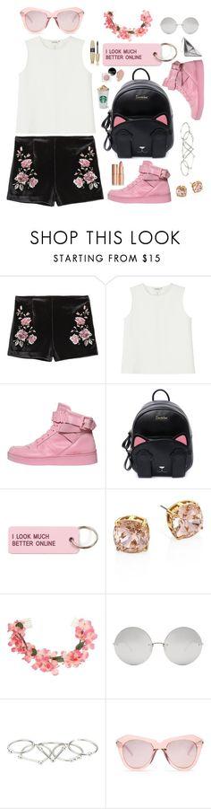 """Spring in Pink"" by piedraandjesus ❤ liked on Polyvore featuring Monki, Moschino, Various Projects, Tory Burch, Miss Selfridge, Linda Farrow, Zimmermann, Karen Walker and Victoria's Secret"
