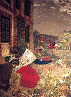 "Woman Reading on a Bench"": Edouard Vuillard"""