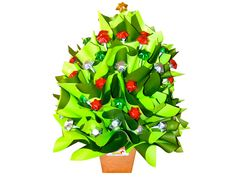 Chocolate Christmas Tree, Large