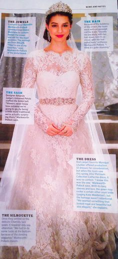 Practically perfect from the hair to the jewels to the dress; this is almost exactly what I picture for my wedding. EW Exclusive: Reign's Queen Mary Gets Married