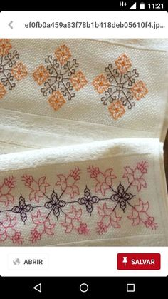 This post was discovered by Fatma Oymak. Discover (and save!) your own Posts on Unirazi. Kasuti Embroidery, Floral Embroidery Patterns, Hand Embroidery Stitches, Hand Embroidery Designs, Embroidery Techniques, Cross Stitch Embroidery, Easy Cross Stitch Patterns, Simple Cross Stitch, Cross Stitch Flowers