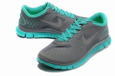Nike Free 4.0 V2 Mens Running Shoe Anthracite Reflect Silver New Green