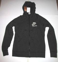 5f86d6a1e804d8 Nike Sportswear Track   Field Hoodie Jacket Womens XL Faded Black  Nike   Hoodie