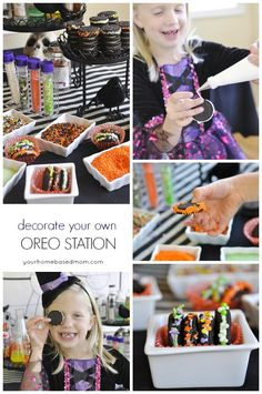 Decorate your Own Oreo Station Halloween Party Idea