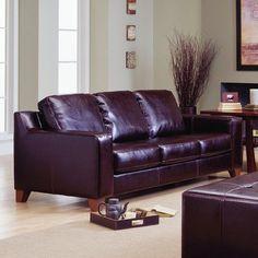 Palliser Furniture Reed Modular Sofa Finish: Bonded Leather - Champion Granite, Upholstery: Bonded Leather - Champion Mink
