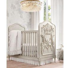Baby Bedroom, Baby Room Decor, Nursery Room, Girl Nursery, Nursery Ideas, Unique Cribs, Victorian Nursery, Luxury Nursery, Rh Baby