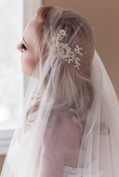 Hey, I found this really awesome Etsy listing at https://www.etsy.com/listing/193794172/gold-lace-juliet-bridal-cap-wedding-veil
