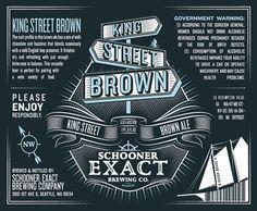 Schooner Exact Brewing Co. Brown Ale Label