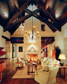 Mountain retreat with reclaimed old-world details