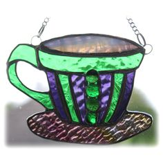 Teacup Stained Glass Suncatcher coffee cup mug £15.00