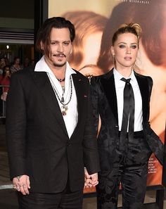 "Johnny Depp and Amber Heard at ""The Danish Girl"" premiere."