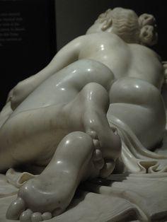 Detail of Antonio Canova's Sleeping Nymph