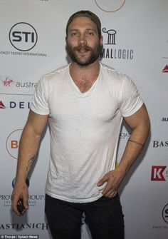 Getting the word out: Jai Courtney hosted a screening of Terminator Genisys in Los Angeles...
