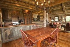 barn wood interior. wow, that's a lot of barn wood.