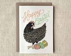 chicken easter card | Wit & Whistle