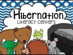 Hibernation Literacy Centers and Activities for kindergarten. Bear Snores On fun!