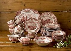 Johnson Brothers China Old Britain Castles Pink 45 Piece Set