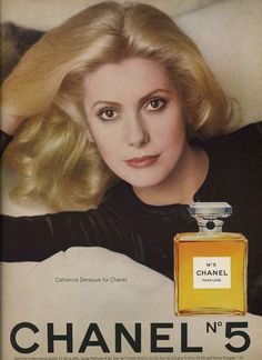 Catherine Deneuve for Chanel. Vogue 1976. This seems vintage! I wasn't born but it still so so classy.