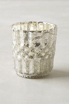 Bubbled Mercury Glass Votive #anthropologie