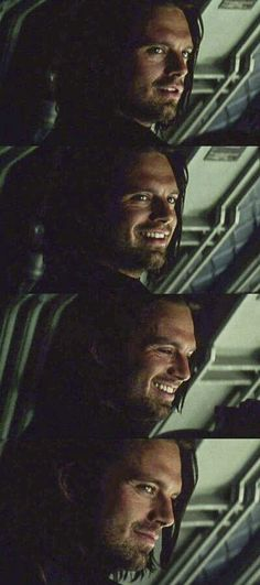 Dear lord, his smile could stop traffic! #buckybarnes #civilwar #sebastianstan