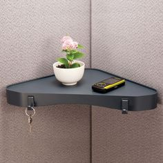 """dps by Staples Recycled Materials Verti-Go Cubicle Accessories, Corner Shelf, 1 1/2"""" x 13"""" x 3"""" (DPS21660-CC)   Staples"""