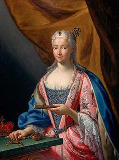 Princess Maria Clementina Sobieska, wife of Prince James Francis Edward Stuart, by Francesco Trevisani, 1719