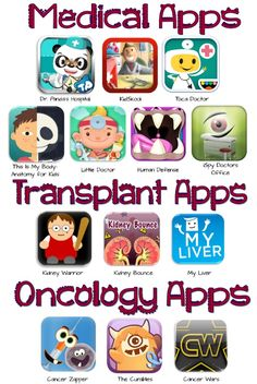 List of medical apps for kids    Source:http://2.bp.blogspot.com/-2c2z4T-D_mU/UGVIqm1RGwI/AAAAAAAAAiE/ZaGueq32JWc/s1600/wiseapps.png