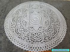 Thai Queen Bed Headboard White Round Lotus Flower Mandala Wooden Hand Craved Carving Teak Wood Art Panel Wash Wall Home Decorative Wooden Wall Art Panels, Panel Wall Art, Lotus Flower Mandala, Crochet Shawl Free, Long Holiday, Wooden Hand, Headboards For Beds, Queen Beds, Beautiful Crochet