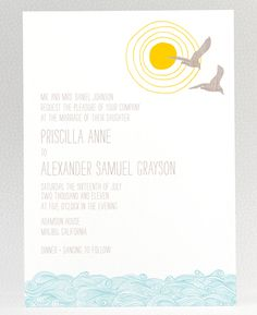 Seagull invites from Hello Lucky!