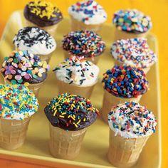 Cupcakes in Cones on Pinterest | Cupcake Cones, Ice Cream Cones and ...