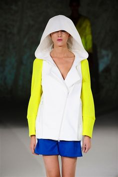 White, pop of neon, even a bit of elec blue  Chalaya did sportwear sep best  Spring 2013  -C