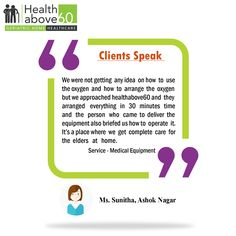 See what our client say about #Healthabove60