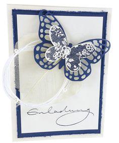 Geburtstagseinladung Blue Butterfly, Geburtstagseinladung, Birthday  Invitation, Invitation, Einladung, Papercraft, Stationary