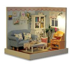 Online Shop Wooden Dollhouse Miniature Model DIY Kit Nice Home Dream House Aliexpress Mobile