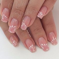 Gel nails Source by jaunaslaetitia Fabulous Nails, Gorgeous Nails, Pretty Nails, Hot Nails, Pink Nails, Hair And Nails, Beautiful Nail Designs, Beautiful Nail Art, Bridal Nails