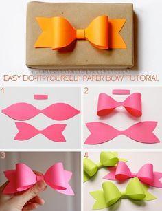 diy paper bow