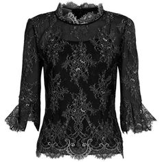 Oscar de la Renta Metallic Floral Lace Top ($2,085) ❤ liked on Polyvore featuring tops, floral tops, lacy tops, flare tops, flower print tops and lace top