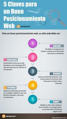 5 claves para un buen Posicionamiento Web #infografia #infographic #seo