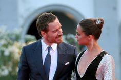 Actors Alicia Vikander and Michael Fassbender attend the premiere of 'The Light Between Oceans' during the Venice Film Festival at Sala Grande on September 2016 in Venice, Italy. Get premium, high resolution news photos at Getty Images Marie Claire, Ibiza, Editorial Photography, Fashion Photography, Michael Fassbender And Alicia Vikander, Vietnam, The Light Between Oceans, The Danish Girl, News Fashion