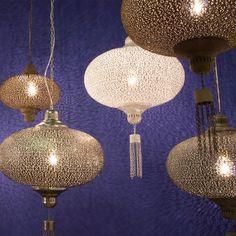 Grote exotische hanglamp oosterse stijl