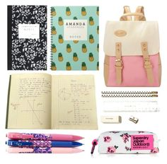 """""""Back to School Supplies"""" by tanja-jokic ❤ liked on Polyvore featuring interior, interiors, interior design, home, home decor, interior decorating, Kate Spade, Dot & Bo, Vera Bradley and BackToSchool"""
